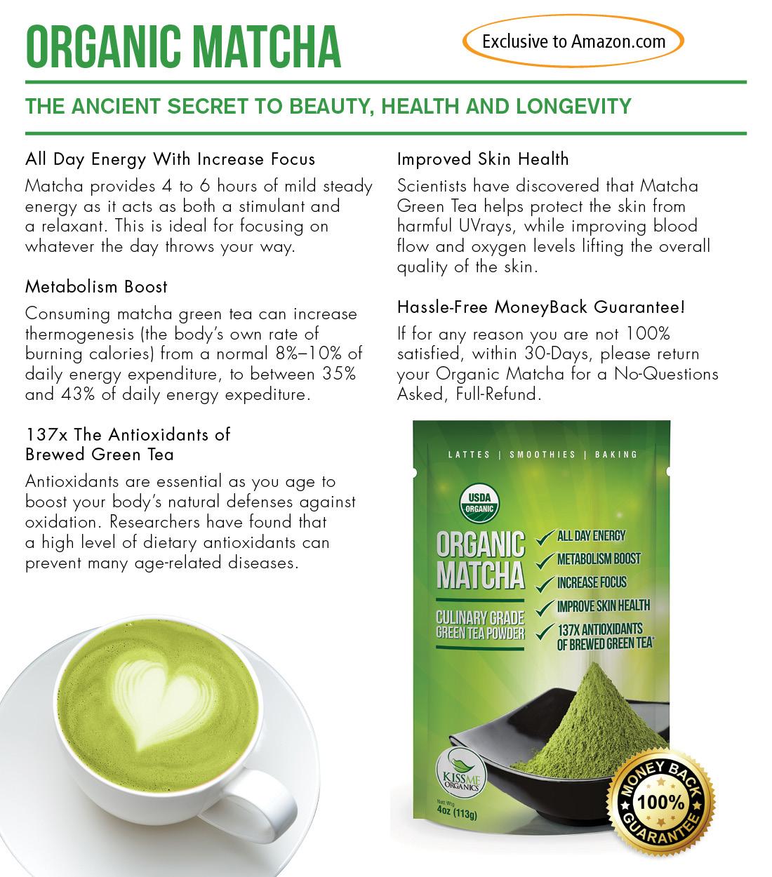 Kiss Me Organics Matcha Green Tea Review